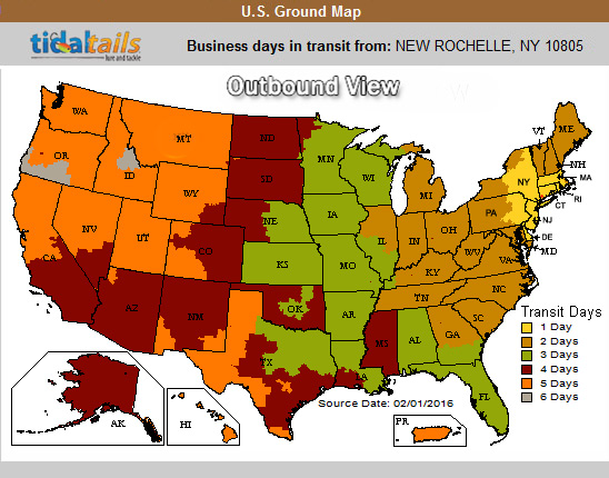 ups zone map tidaltails united states postal domestic delivery only call 914 235 4050