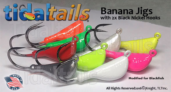 Bananahead Jigs for Blackfish